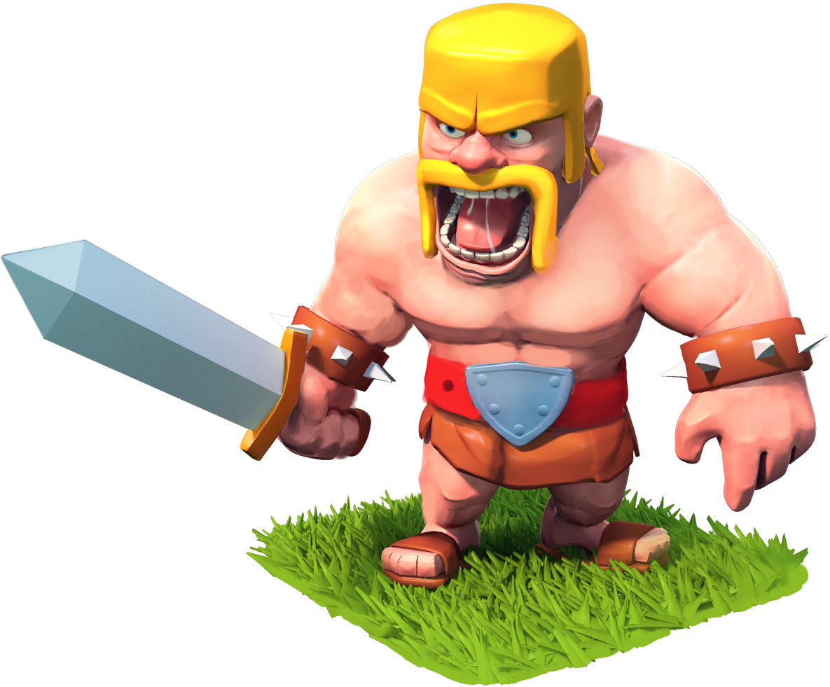 Helmet clipart barbarian. Clash of clans conception