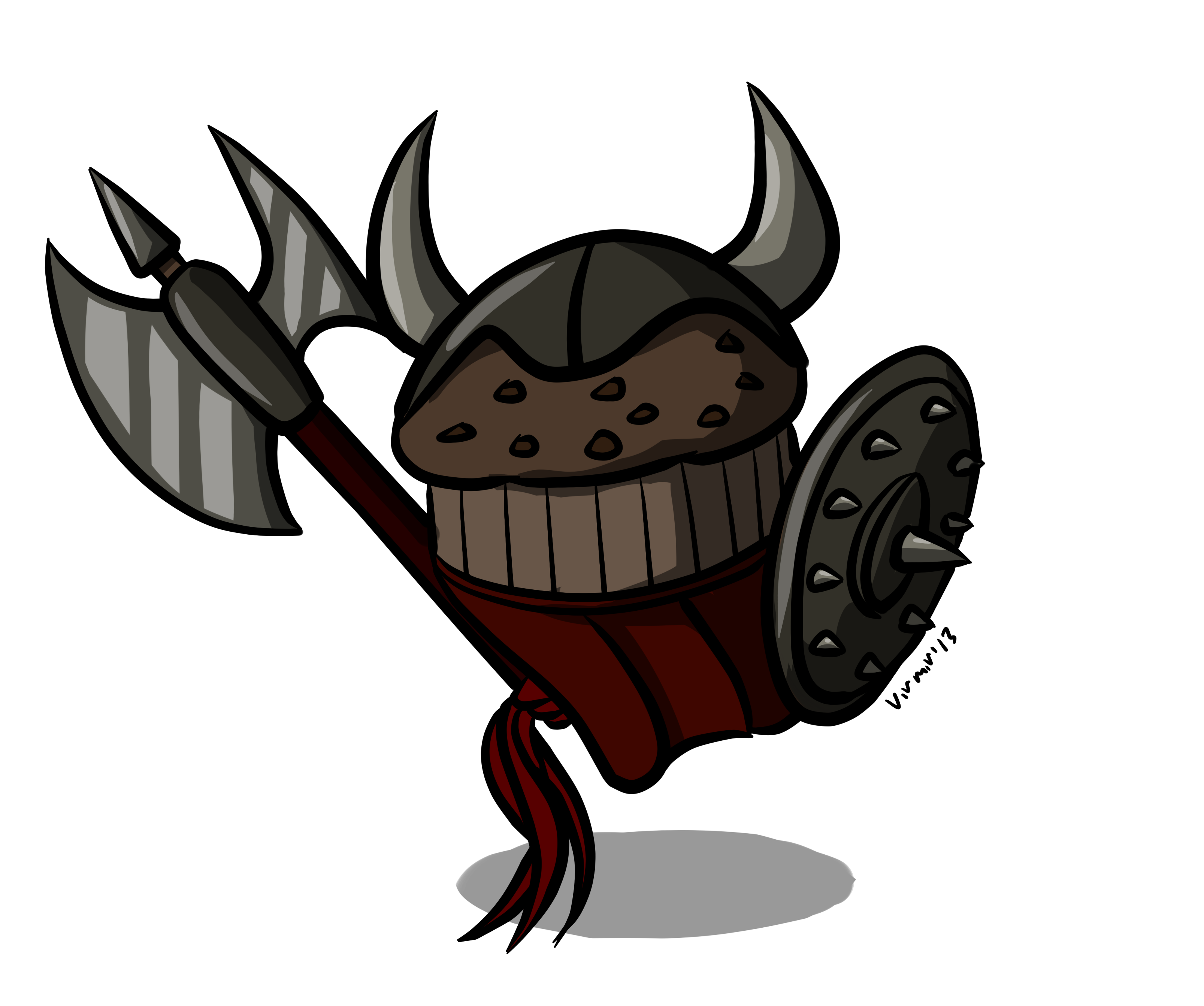 Muffin clipart muffin man. Art by virmir evil
