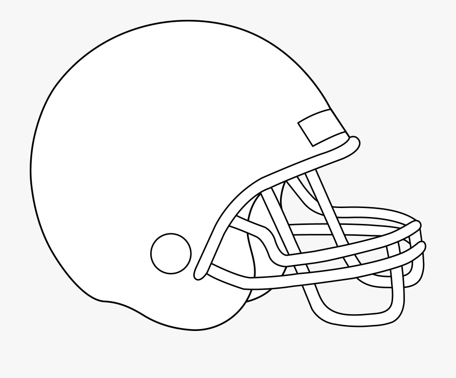 Helmet clipart basic. Blank football graphic png