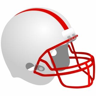 Red football clip art. Helmet clipart basic