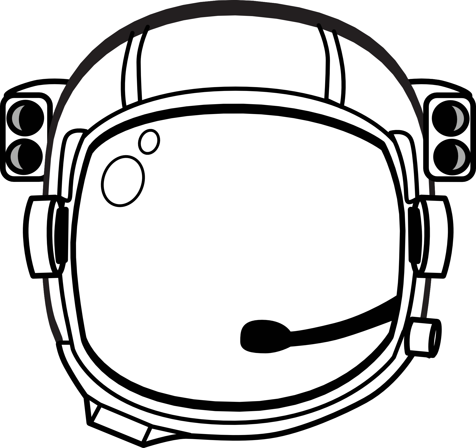 Football helmet black and. Planet clipart space party