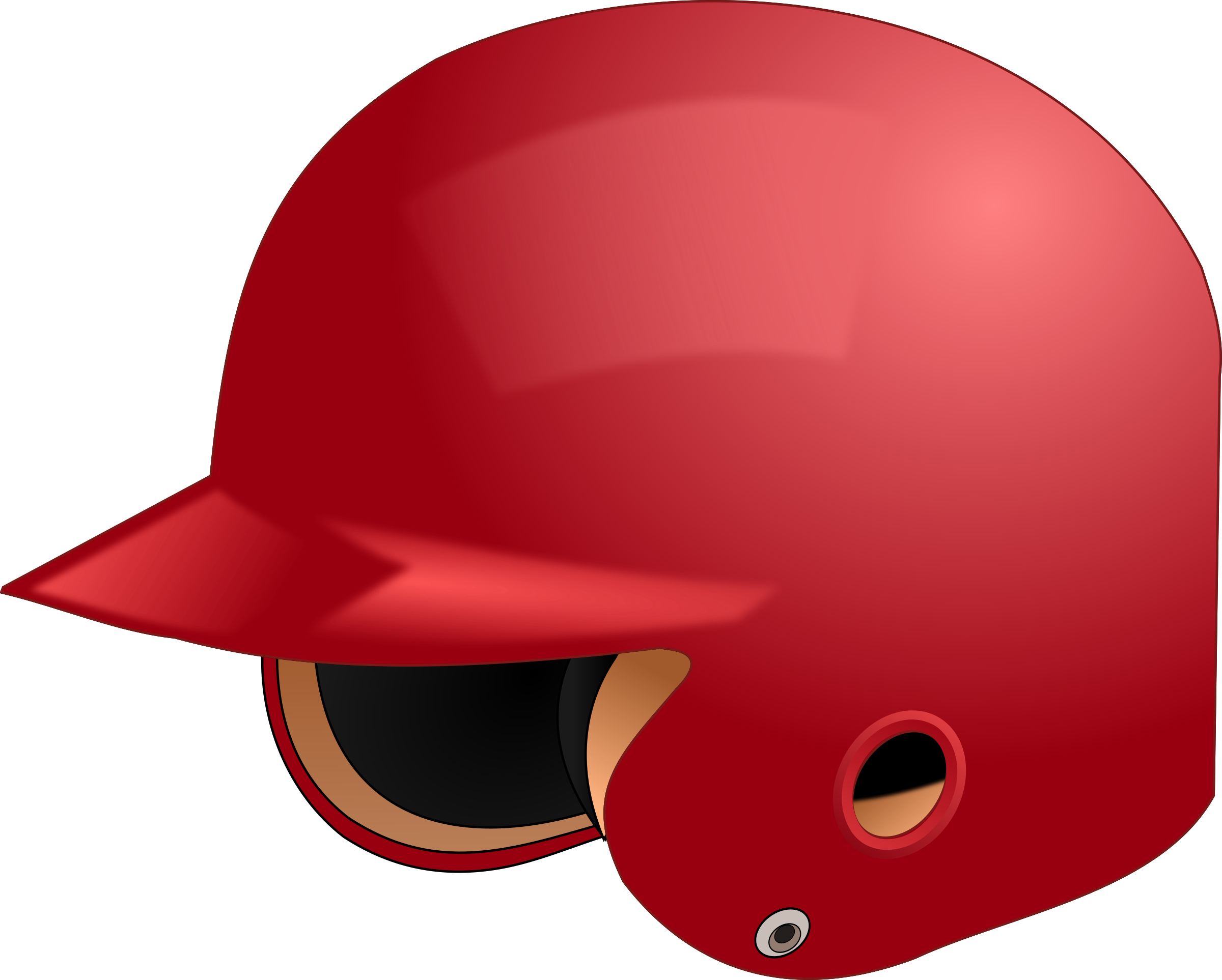 Baseball helmet big image. Softball clipart cartoon