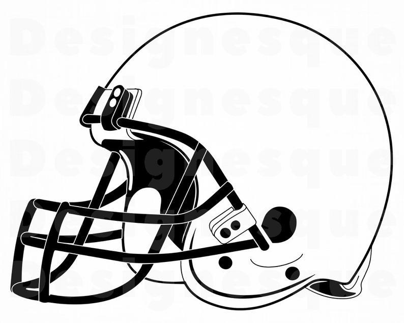 Football outline svg files. Helmet clipart file