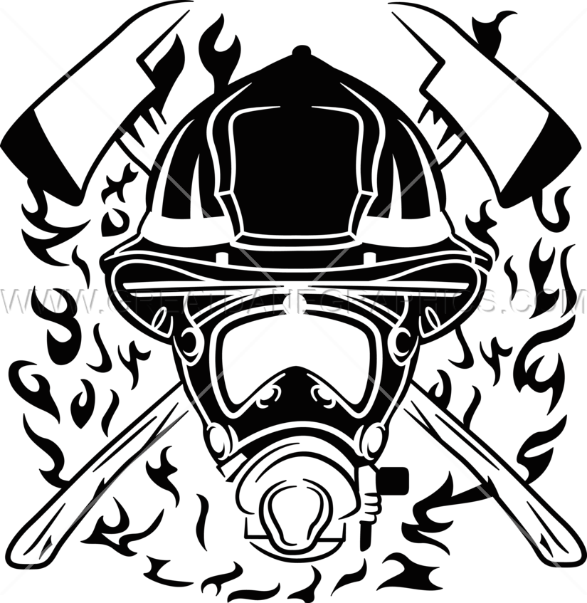 Production ready artwork for. Mask clipart fire fighter