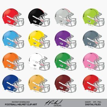 Digital clip art . Helmet clipart football helmet