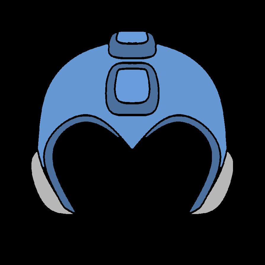 Megaman by boffering on. Helmet clipart fsu