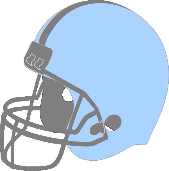Football facing left clip. Helmet clipart light blue