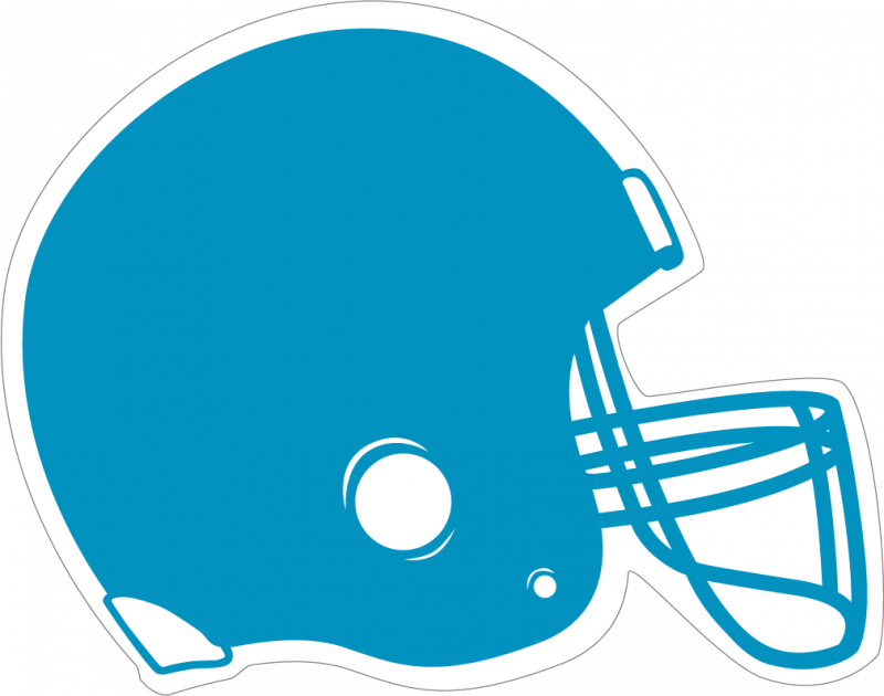 Helmet clipart light blue. Football panda free images
