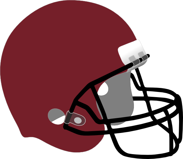 helmet clipart maroon