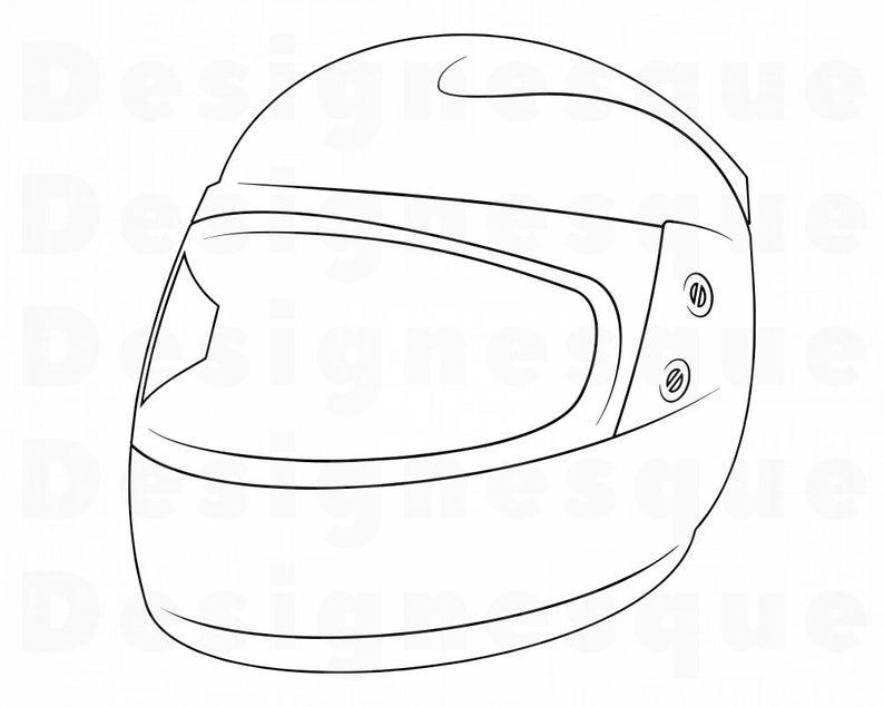 Helmet clipart motor bike. Motorcycle outline svg files