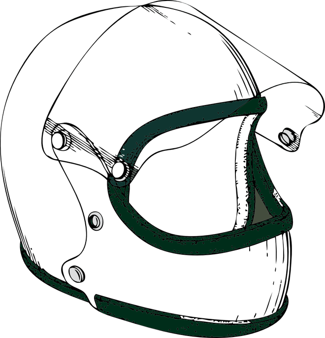 Motorcycle Helmet Clipart Black And White