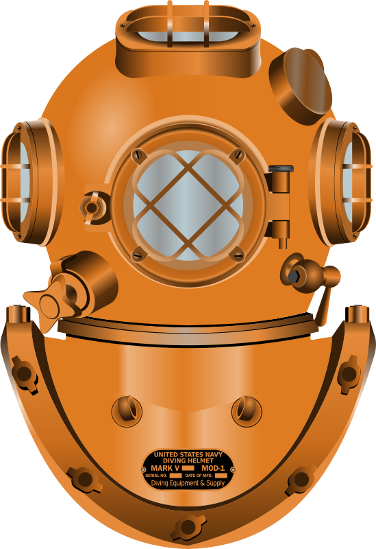 Helmet clipart orange. Diving medium image png