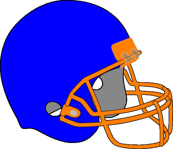 Football clip art at. Helmet clipart orange