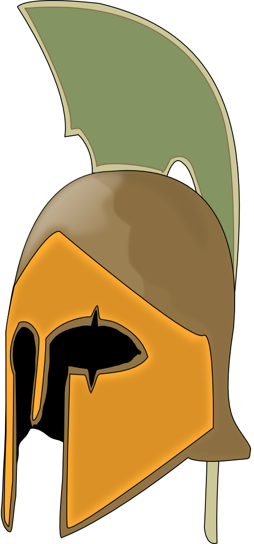Helmet clipart orange. Leonidas i royalty free