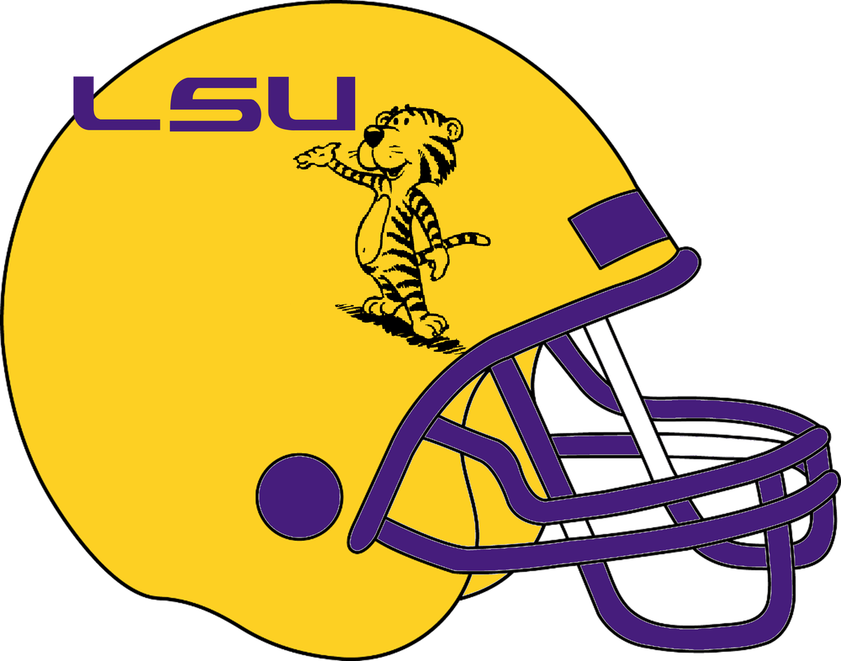 Football concept uniforms and. Louisiana clipart lsu tiger