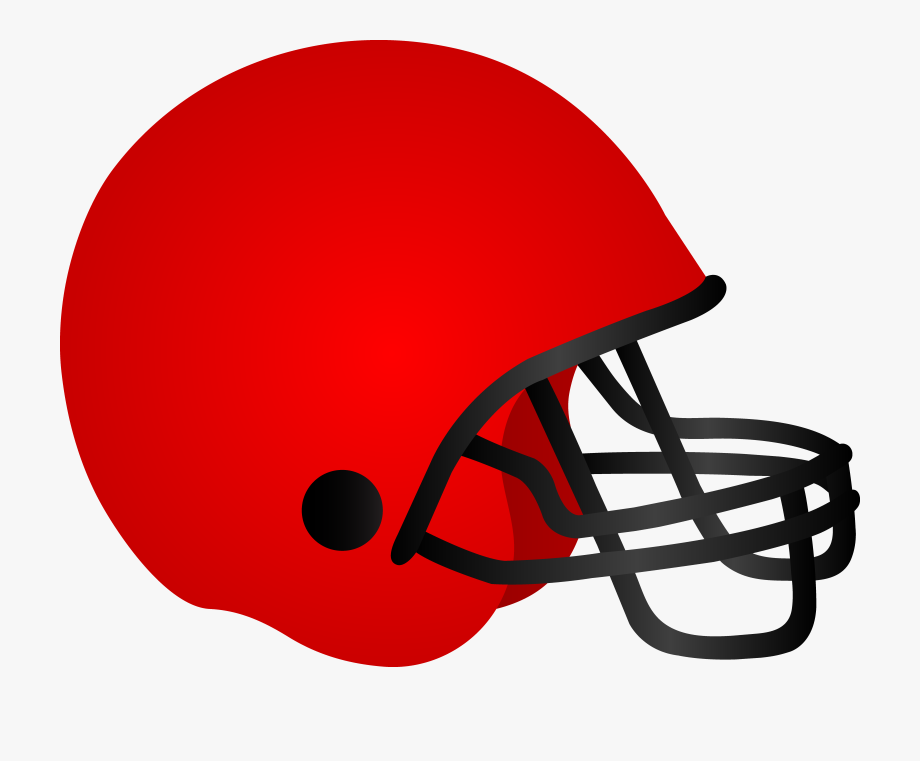 Helmet clipart plain. Red football cliparts