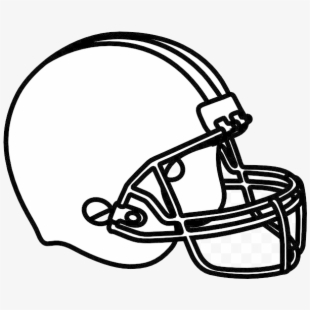 Helmet clipart plain. Free football cliparts silhouettes