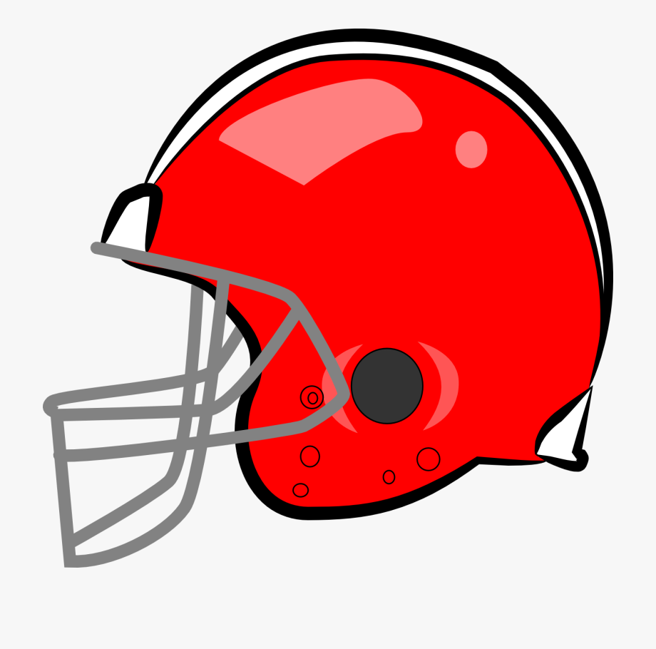 Football red . Helmet clipart plain