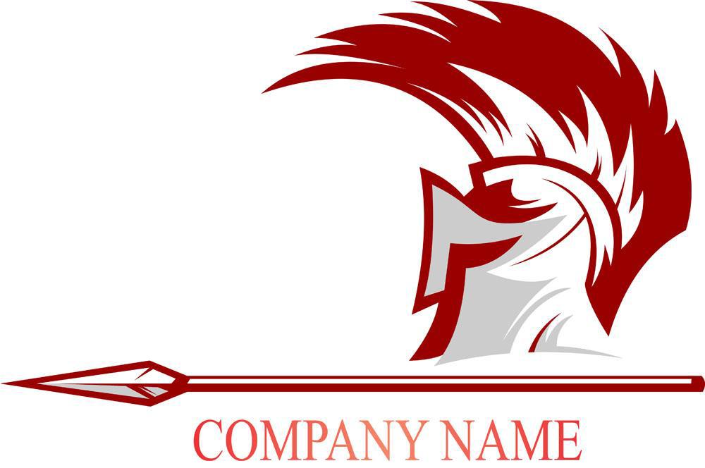 Army logo stock photography. Spartan clipart knight helmet