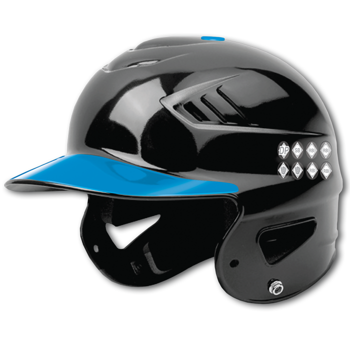 Mini and standard award. Baseball helmet png