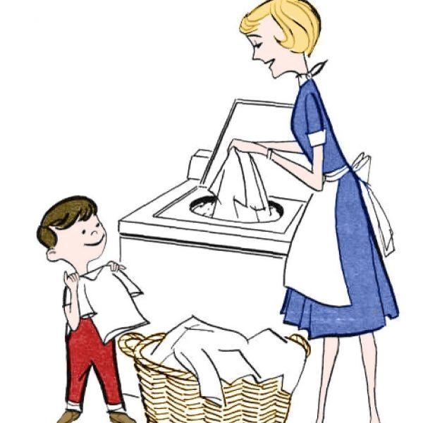 Help clipart. Retro clip art laundry