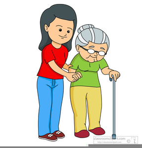 Elderly woman free images. Helping clipart
