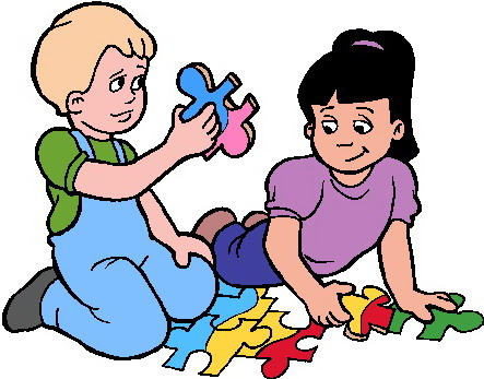 Puzzle clipart share toy. Free pictures of children