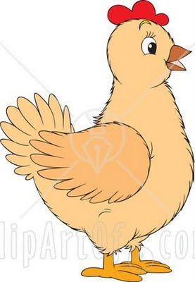 Hen clipart.  illustration of a