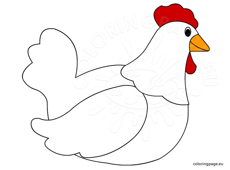 Hen clipart. Sitting clip art coloring