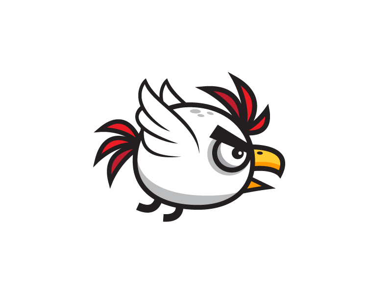 Hen clipart angry. Dribbble game asset chicken