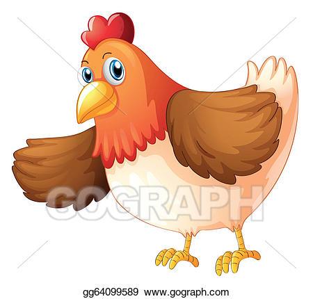 Hen clipart big fat hen. Eps vector a stock