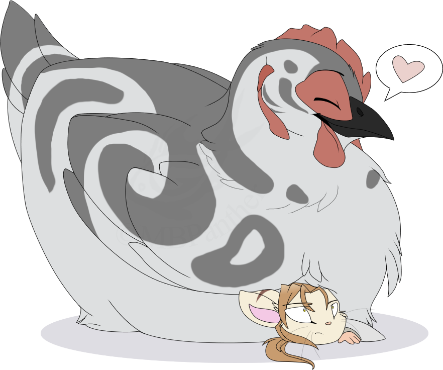 Hen clipart cluck. Stormcluck the protective mother