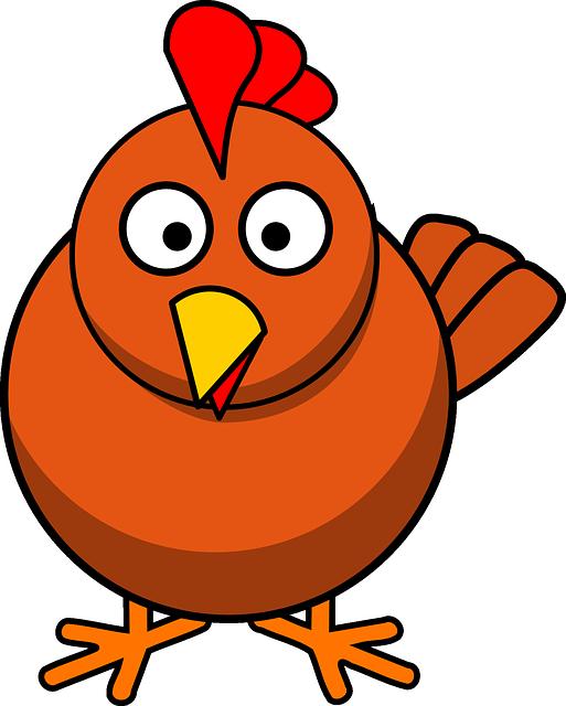 Obraz zdarma na pixabay. Hen clipart farming animal