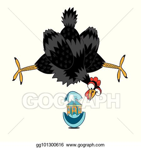 Vector stock a laying. Hen clipart laid
