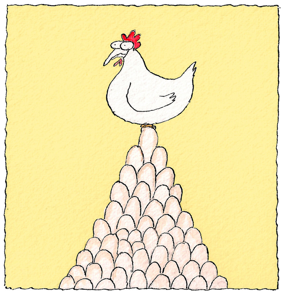 Hen clipart laid. How many eggs does