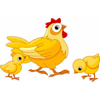And baby chicks coloring. Hen clipart mama