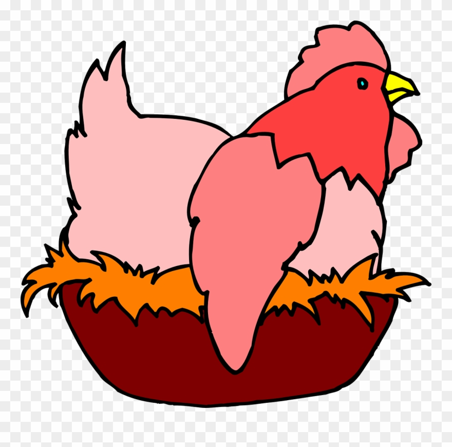 Hen clipart nest. Red on a pinclipart