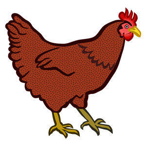 Hen clipart printable. Coloured cliparts of free