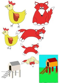 And the fox . Hen clipart rosie