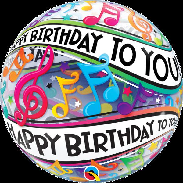 Happy birthday music note. Hen clipart une