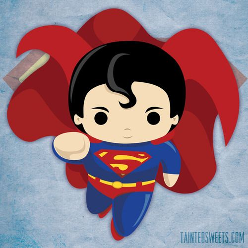 Chibi flying by tainted. Hero clipart baby superman