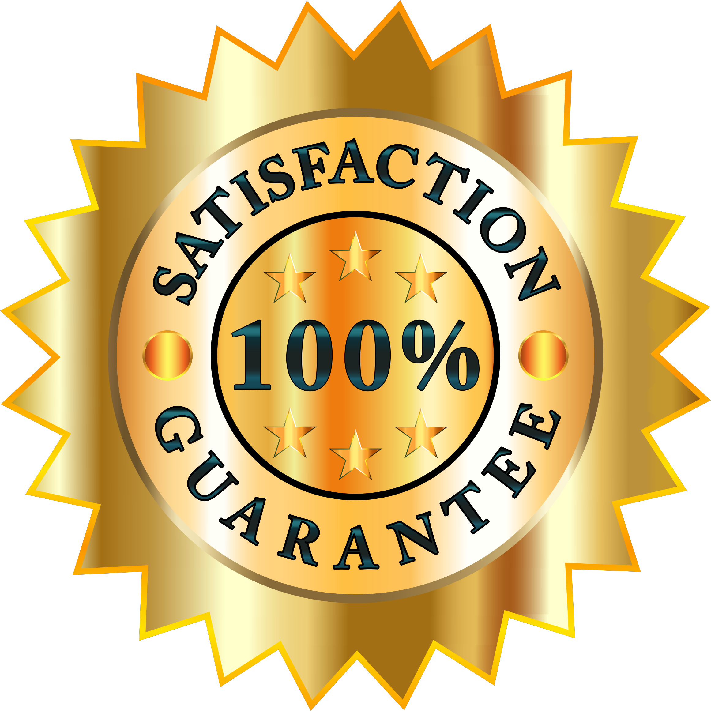 Satisfaction badge big image. Stamp clipart guarantee