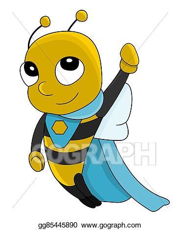Hero clipart bee. Drawing super cartoon gg