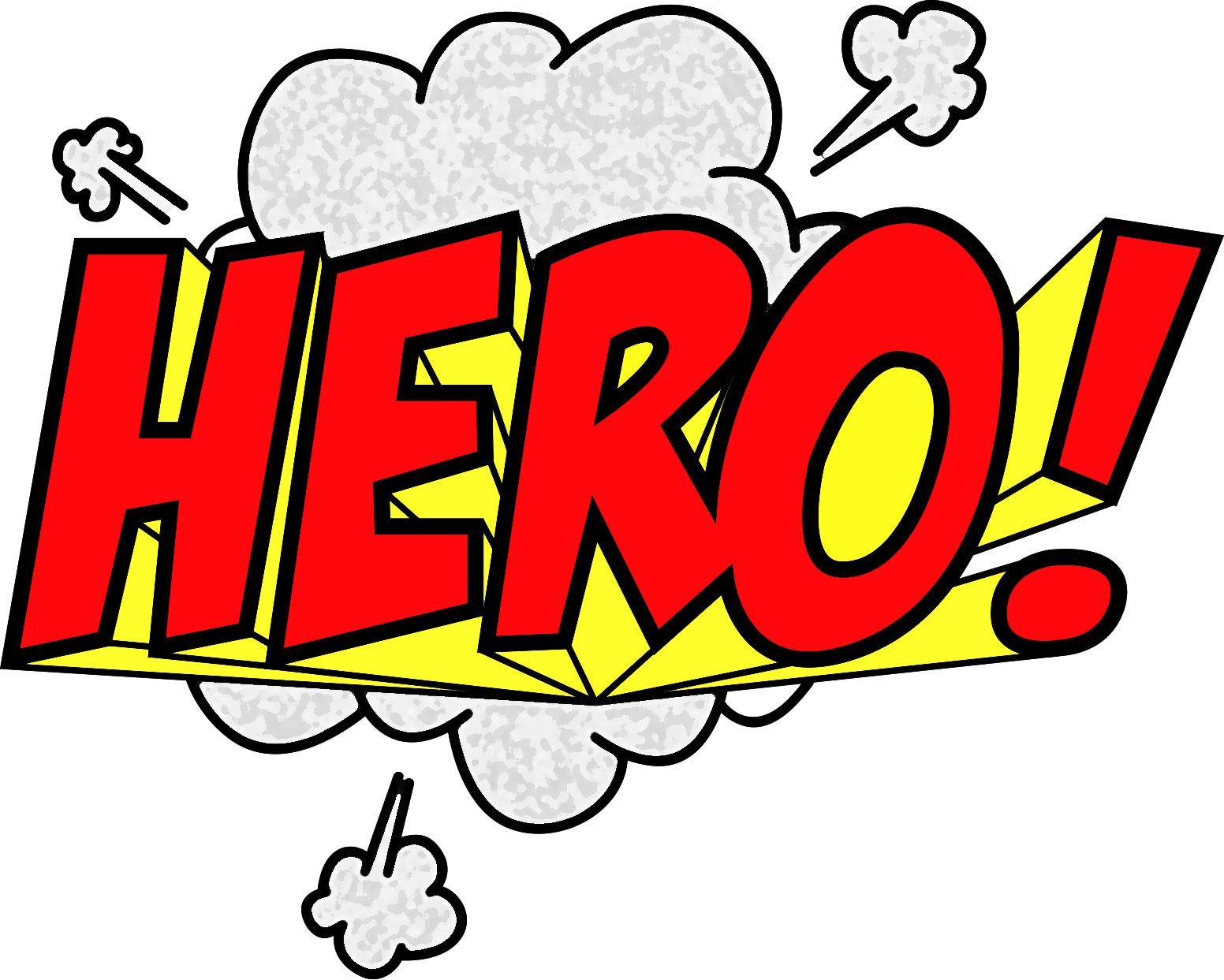 Words clipart heroes. Best superhero clipartion com