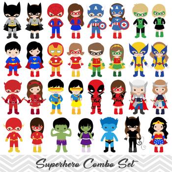 Hero clipart digital.  superhero boy and