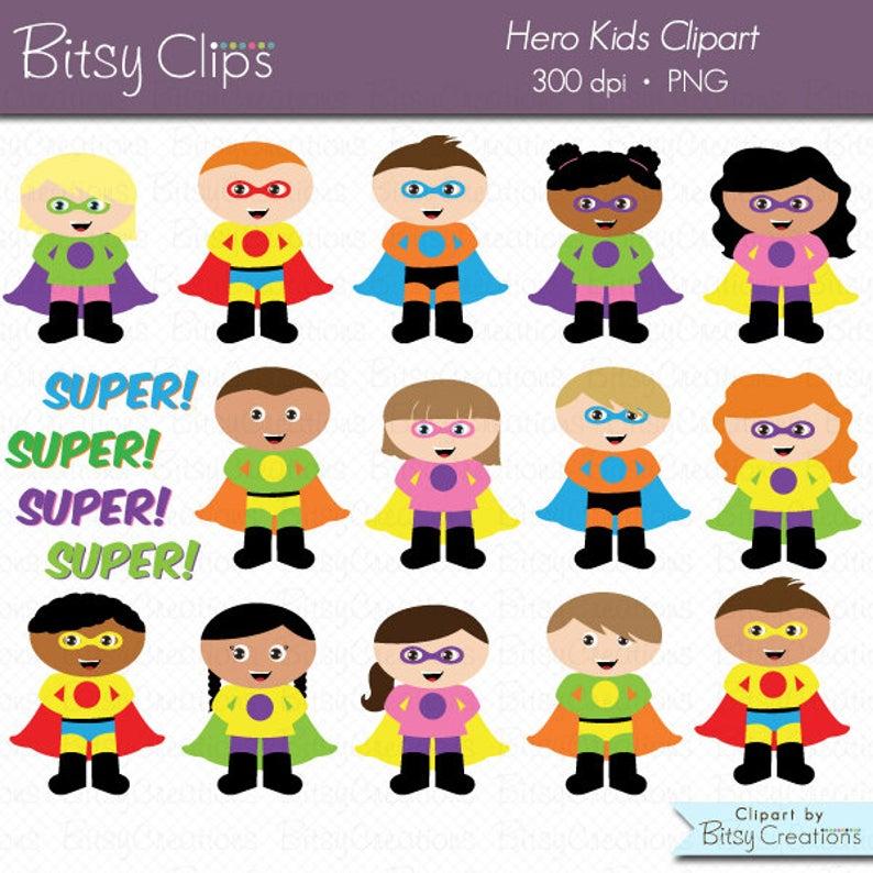 Hero clipart digital. Kids art set commercial