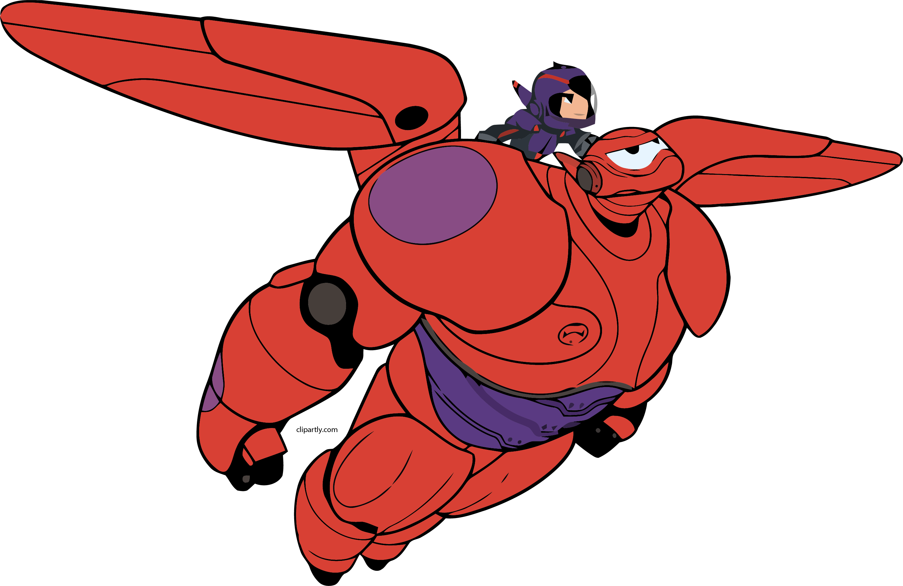 Hero clipart hiro. Baymax fly png clipartly