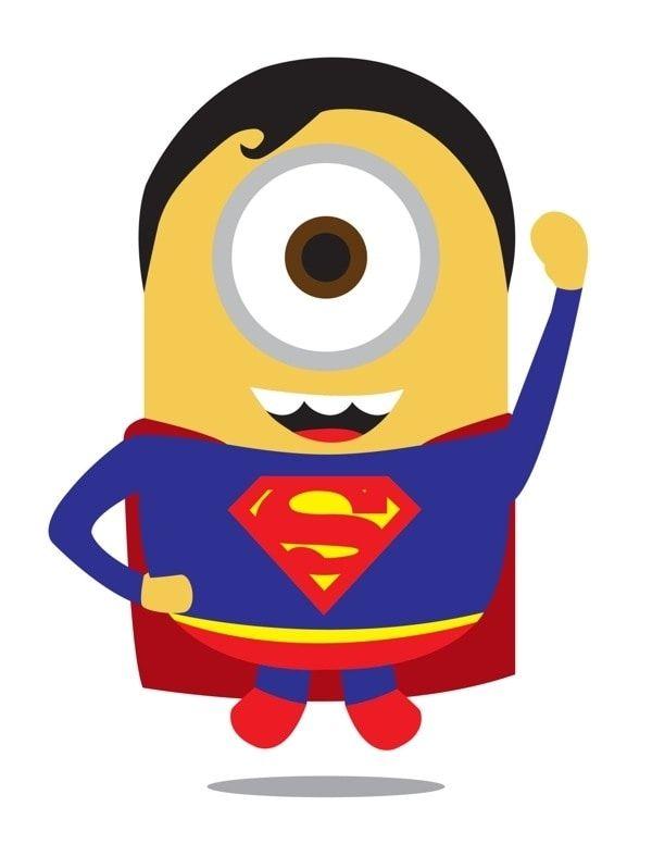 Despicable me minions as. Superheroes clipart minion