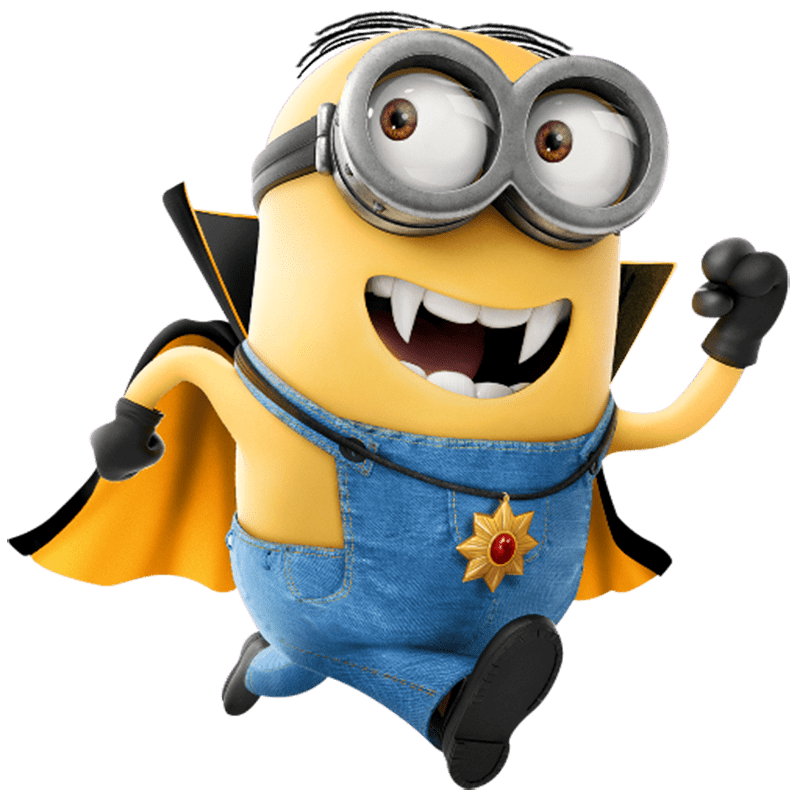 Minions png images. Minion superhero transparent stickpng