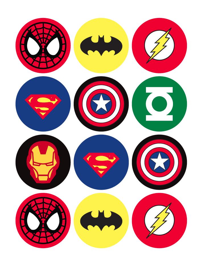 Free superhero printables download. Superheroes clipart printable